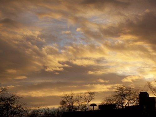 Sonnenuntergang am Freiheitsplatz