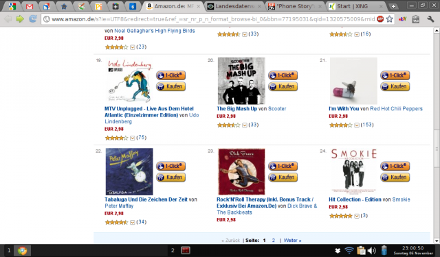 Screenshot der Amazon Angebotsseite