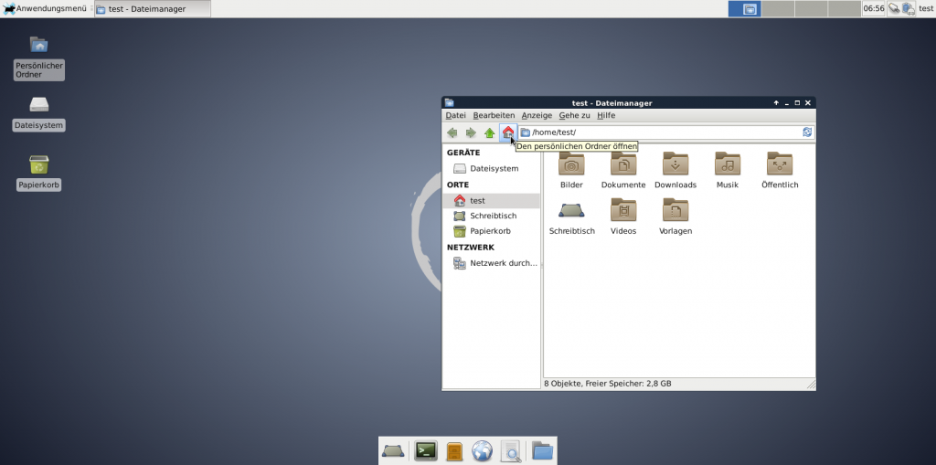 Debian XFCE Default
