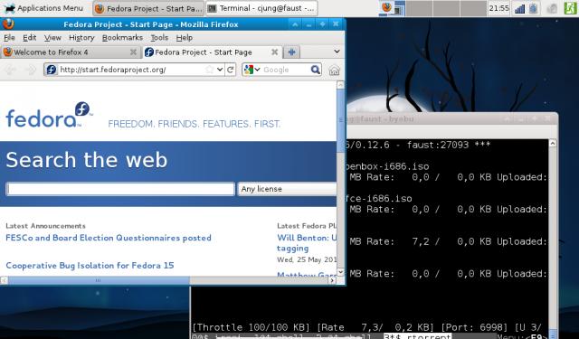 Fedora 15 mit Xfce-Desktop