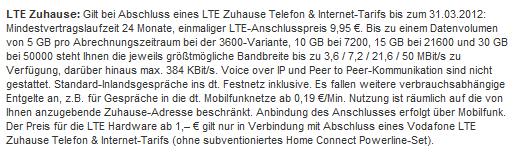 LTE-Kleingedrucktes bei Vodafone