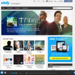 Startseite von Simfy